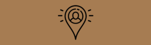 location icon on brown background
