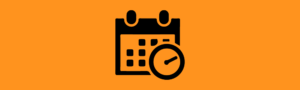 schedule icon on top of orange background